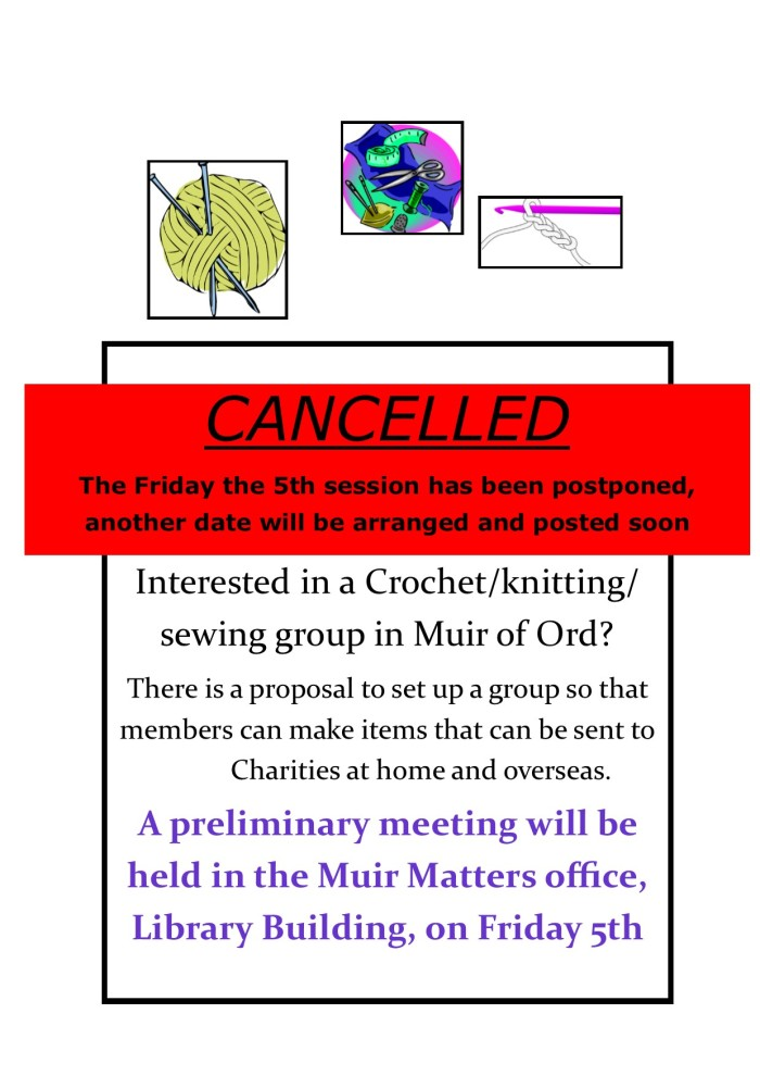 Knit, Sew,Crochet cancelled