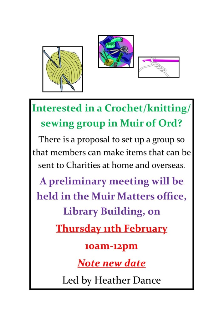 Knit, Sew,Crochet New Date with time