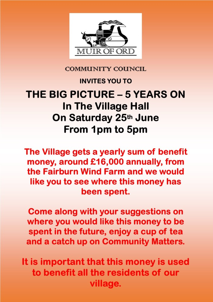 Community Council Open day Poster