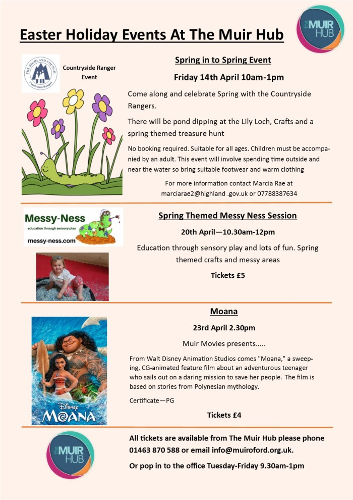 Easter Holiday Events at The Muir Hub