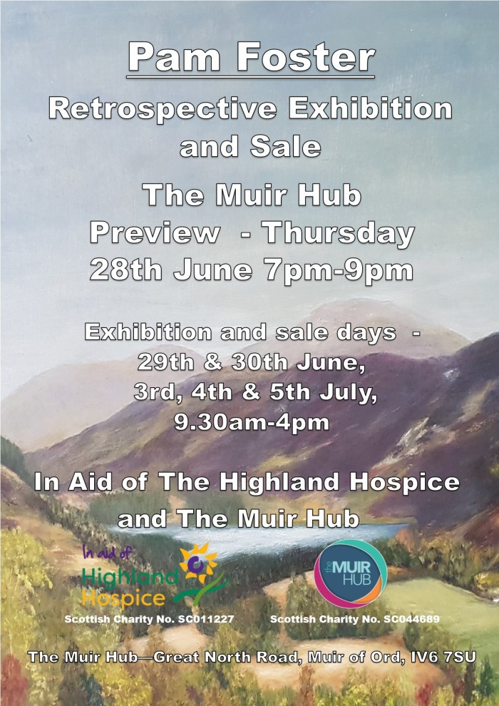 Retrospective Exhibition and Sale at THe Muir Hub Flyer