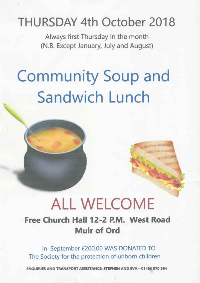 Community Soup and Sandwhich