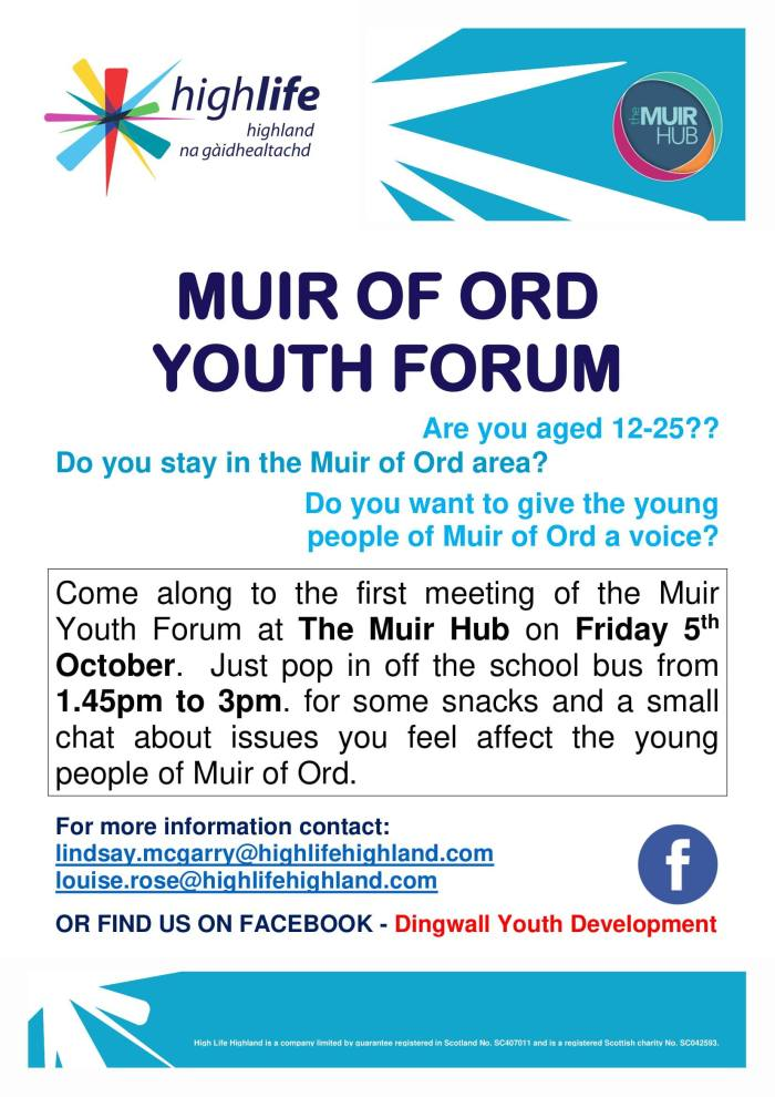 Muir of Ord Youth Forum